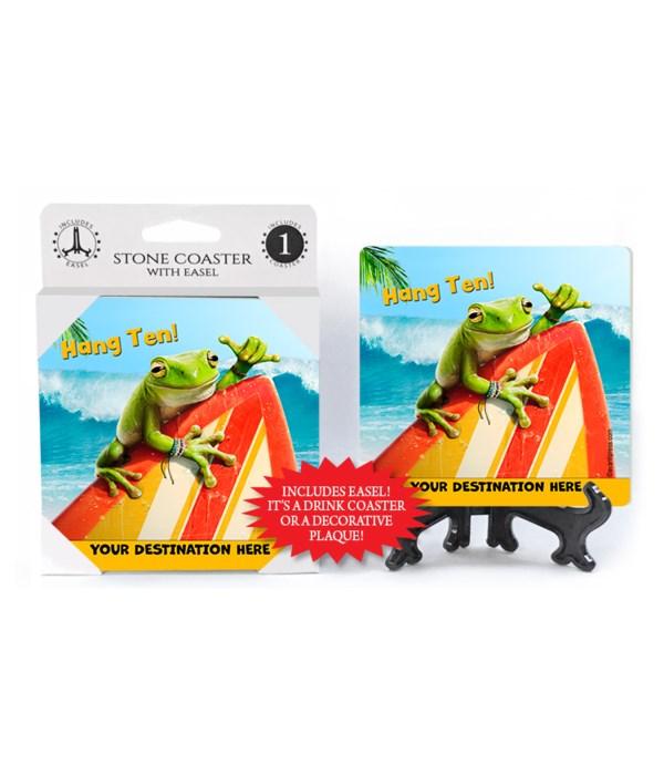 Frog Surfer - Hang Ten! 1PK Coaster