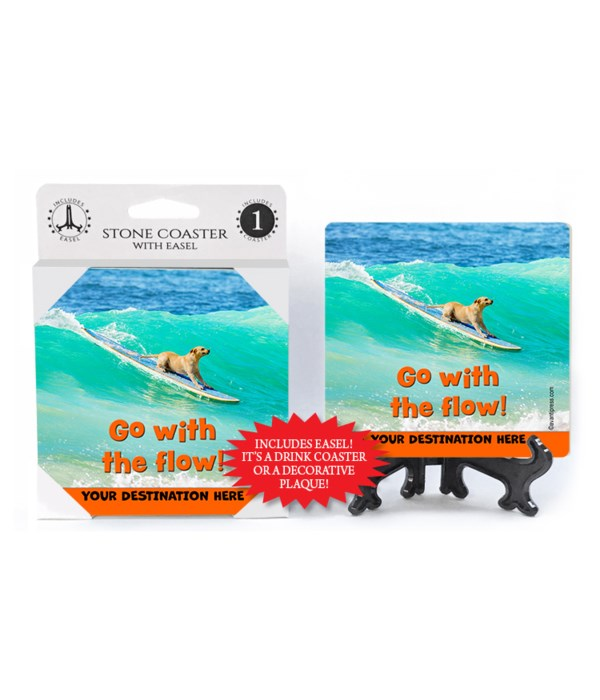 Surfing Lab - Go with the flow! 1PK Coaster