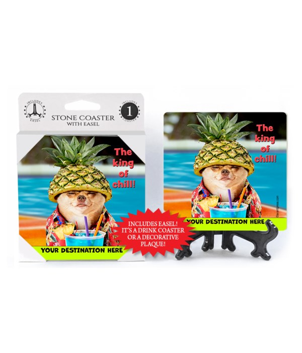 Chihuahua Pineapple - The king of chill! 1PK Coaster