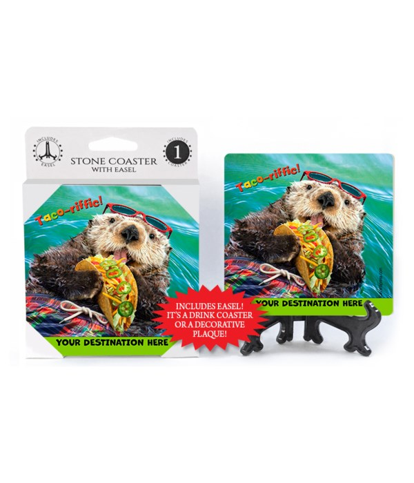 Otter Eats Tacos - Taco-riffic 1PK Coaster