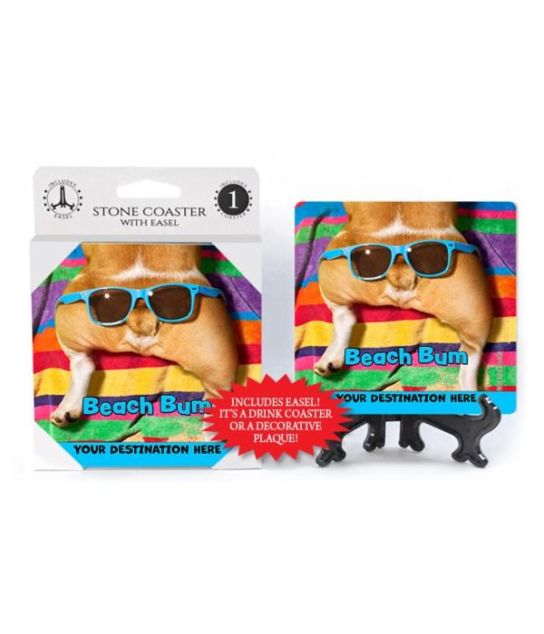 Glasses on Dog Butt - Beach Bum 1PK Coaster
