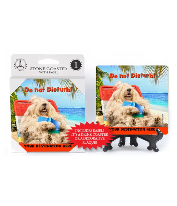 Lounging Sheepdog - Do not disturb! 1PK Coaster