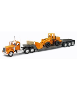 KW W900 lowboy w/ construction 1:32