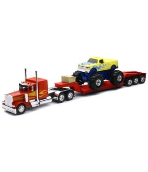 PB 379 Lowboy w/ Mnstr truck 1:32