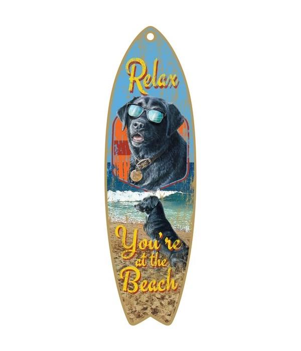 Relax Beach Dog Surfboard