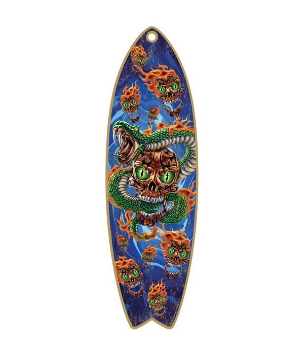 Snake Skulls Surfboard