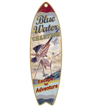 Blue Water Charters Surfboard