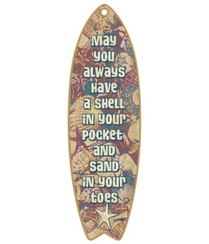 Sand and Shells Surfboard