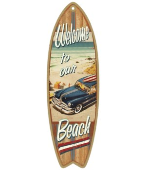 Welcome to our Beach (woodie) Surfboard