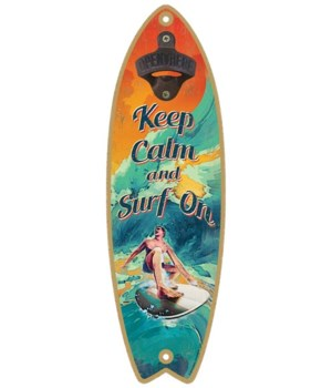 Keep Clam Surf On Surfboard
