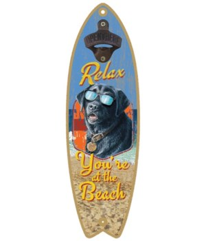 Relax Beach Dog Surfboard