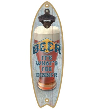 Beer It's what's for dinner Surfboard
