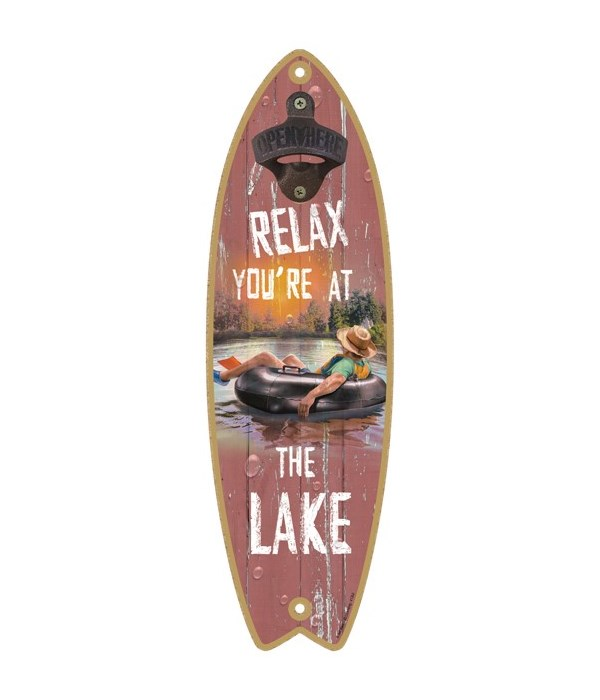 Relax you're at the Lake (guy floating in an intertube)