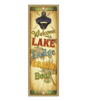 Welcome Lake Lodge Cabin Boat Surfboard