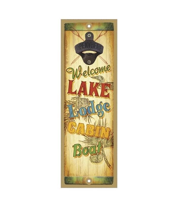 Welcome Lake Lodge Cabin Boat Surfboard