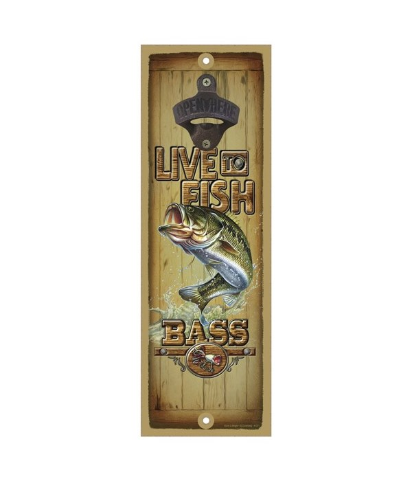 Live to fish - Bass Surfboard