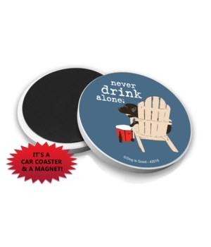 never drink alone - beer (name droppable