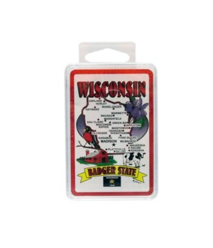 WI Playing Cards State Map 24DP