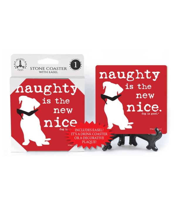 Naughty is the new nice. (white dog with