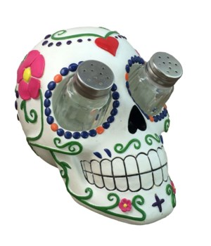Sugar Skull Salt & Pepper Set - 7""