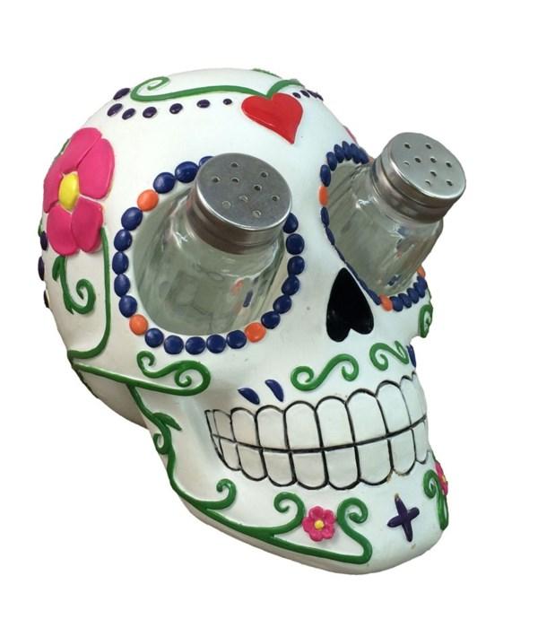 "Sugar Skull Salt & Pepper Set - 7"""