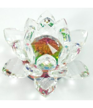 30MM Crystal Lotus- 5 color center-3.5""