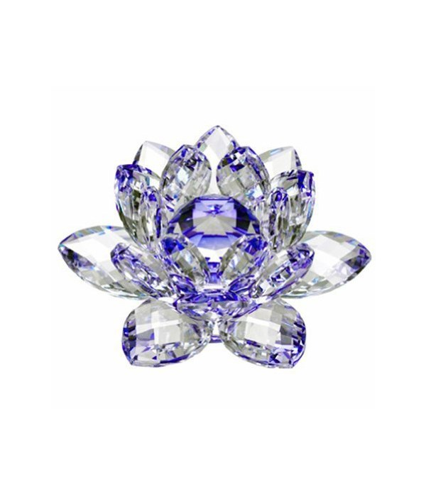 """30MM Crystal Lotus-Blue accent-3.5"""""""