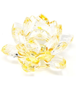 30MM Crystal Lotus- Gold accent-3.5""