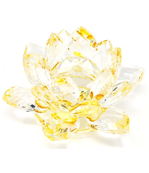 """30MM Crystal Lotus- Gold accent-3.5"""""""