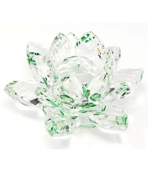 30MM Crystal Lotus- Green accent-3.5""