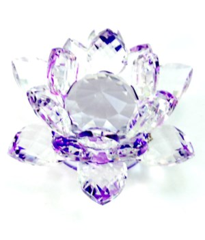 30MM Crystal Lotus- Purple accent-3.5""
