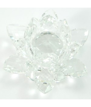 30MM Crystal Lotus- Clear Center-3.5""