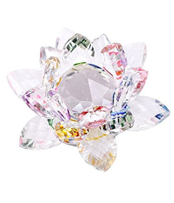 """50MM Crystal Lotus- 5 color center-5.5"""""""