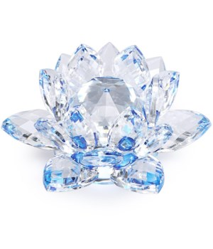 50MM Crystal Lotus- Blue accent-5.5""