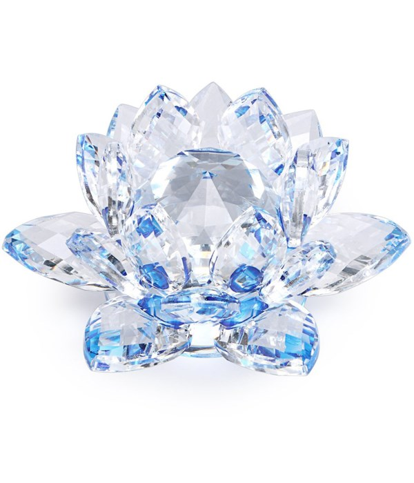 """50MM Crystal Lotus- Blue accent-5.5"""""""