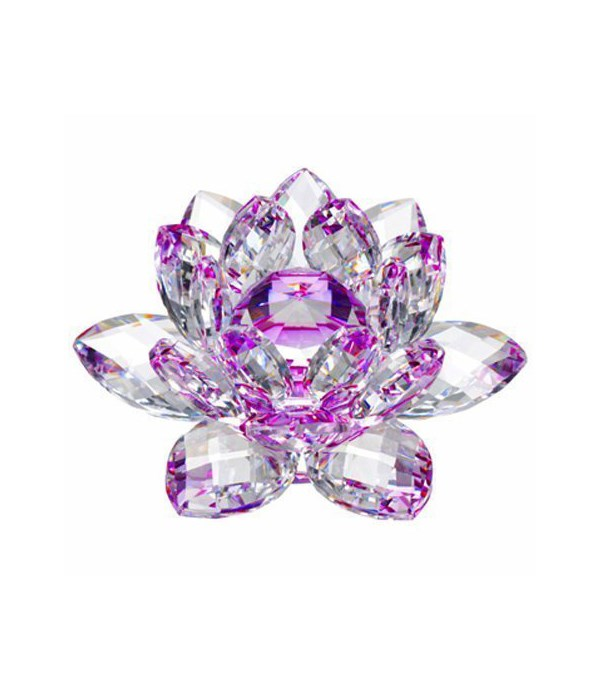 """50MM Crystal Lotus-Purple accent-5.5"""""""