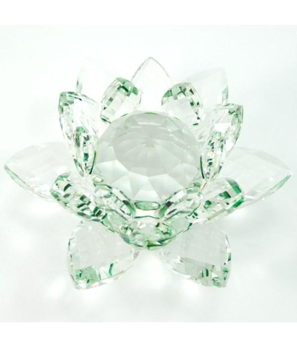 "50MM Crystal Lotus-Green-5.5"""