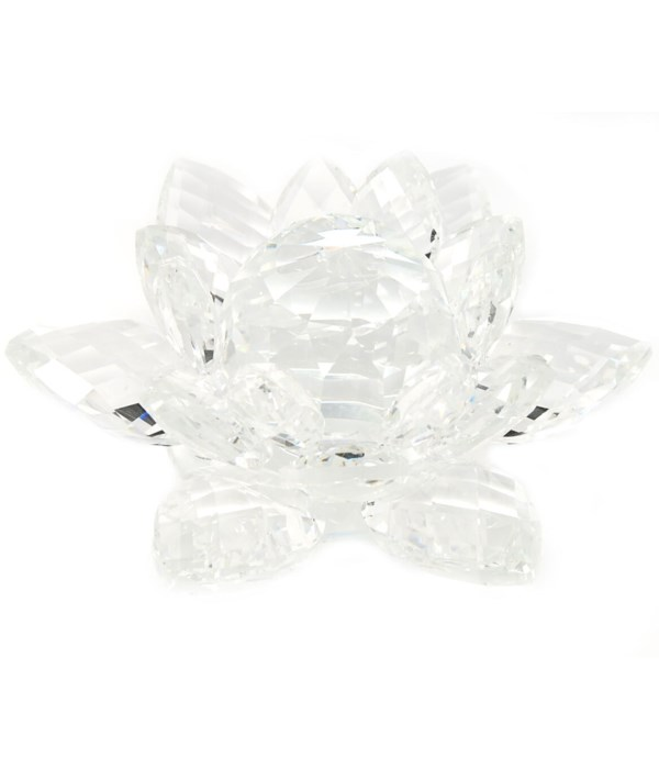 """50MM Crystal Lotus- clear center-5.5"""""""