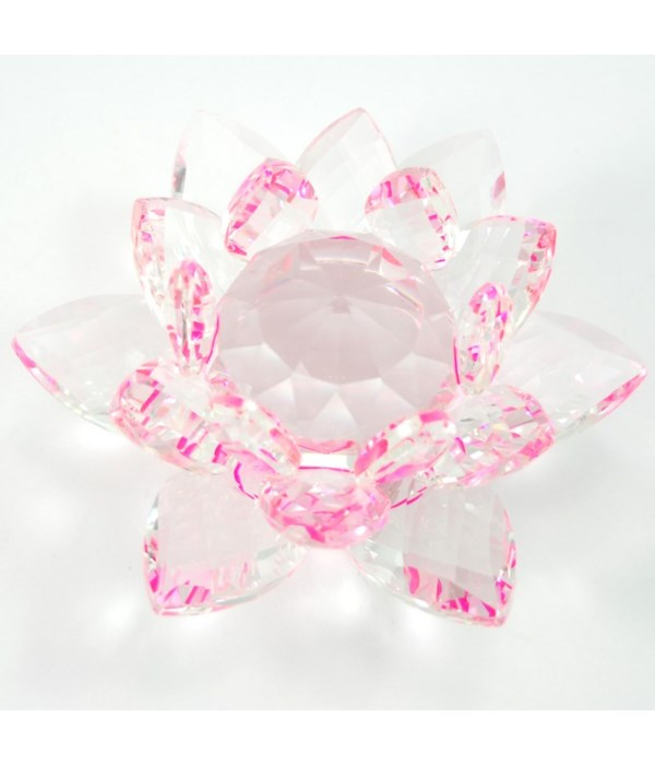 """50MM Crystal Lotus- Pink accent-5.5"""""""