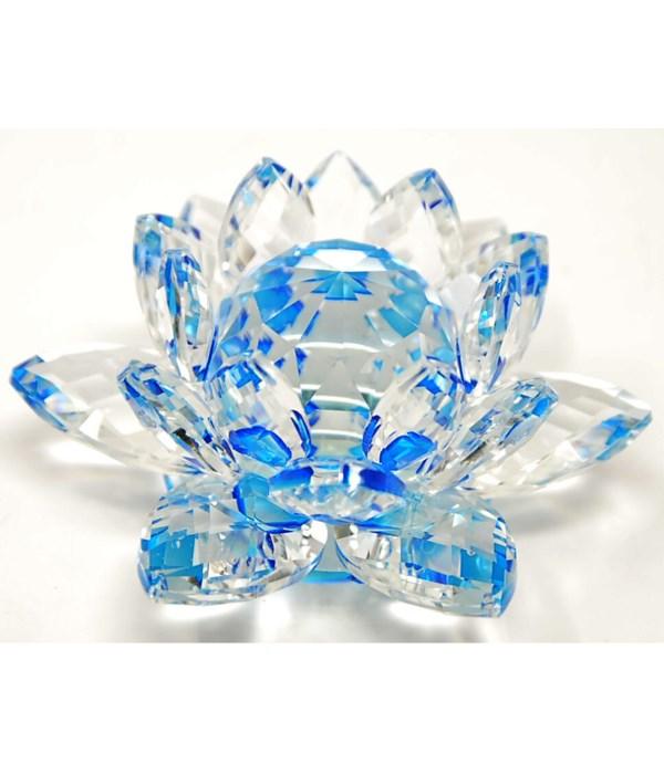 "50MM Crystal Lotus- Aqua-5.5"""