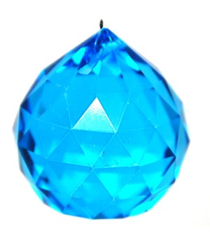 40MM Crystal ball /Turquoise blue