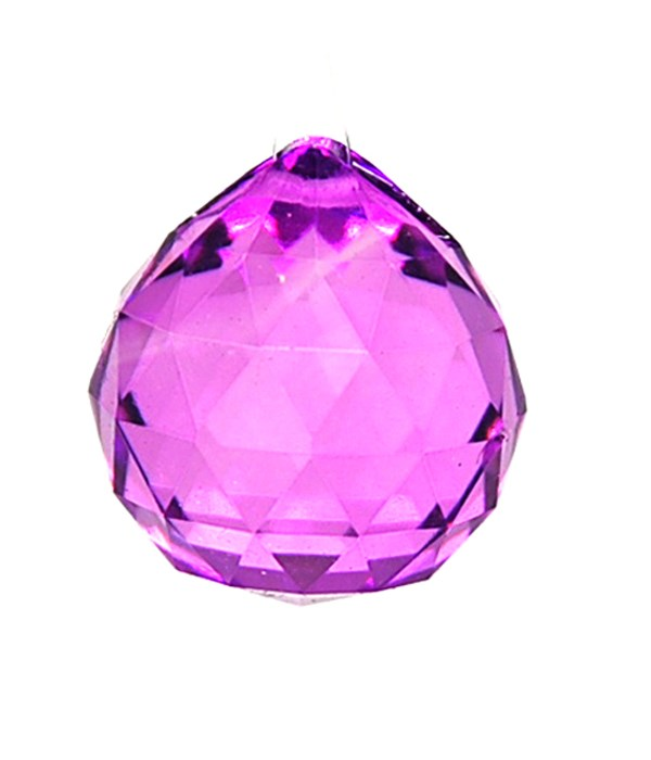 30MM Crystal ball- Magenta