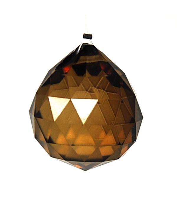 30MM Crystal ball-Golden yellow