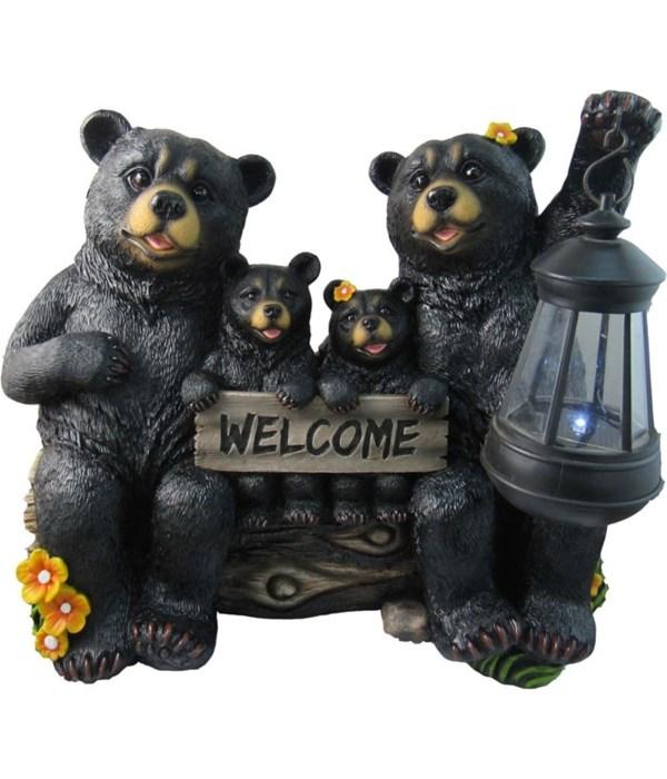 """L13"""" Bear Family Lantern 1PC"""