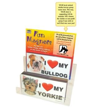 "Dog I ""heart"" 4""x8"" car magnets-108PC"
