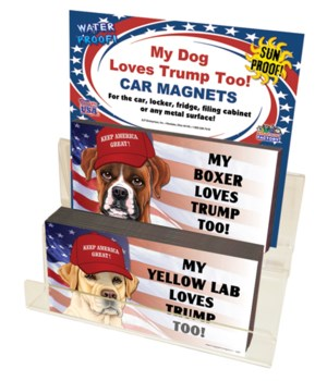 Trump Dog 4x8 car magnet acrylic counter
