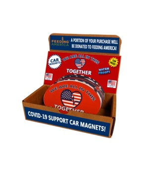 Covid 19 Relief Oval Car Magnet 60PC - D