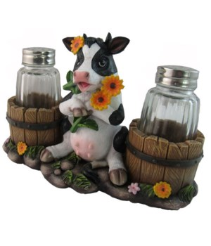 Cow Salt & Pepper Set - 6.5""