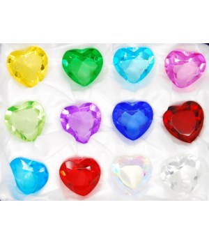 40MM Heart Diamonds 12PC display