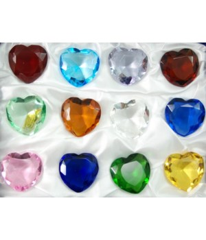 30MM Heart Diamonds 12PC display